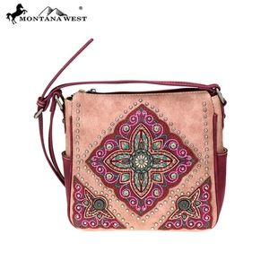 Montana West Aztec Collection Crossbody Bag Pink